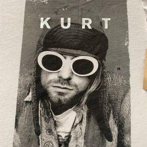 Kurt Cobain distressed tee NWT